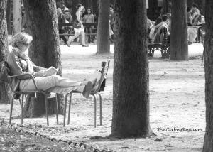 Relaxing in the Jardin