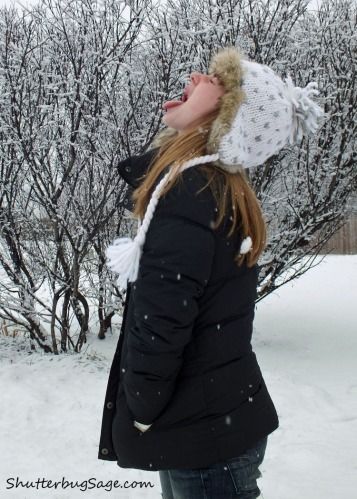 Sass Catching Snowflakes SS