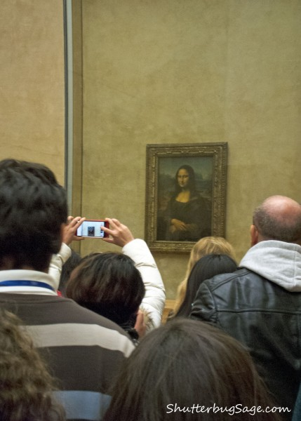 Leonardo Da Vinci's Mona Lisa on display at the Louvre in Paris