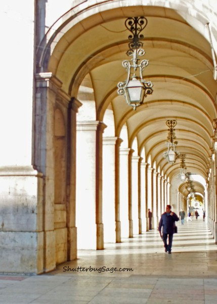 A walkway in Lisbon, Portugal.