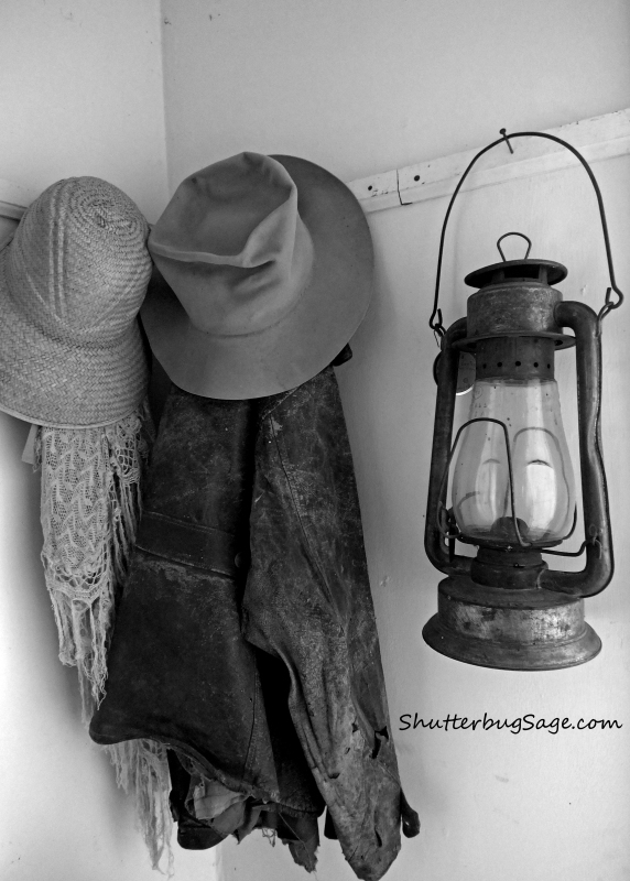 Coats and Lantern B and W 2