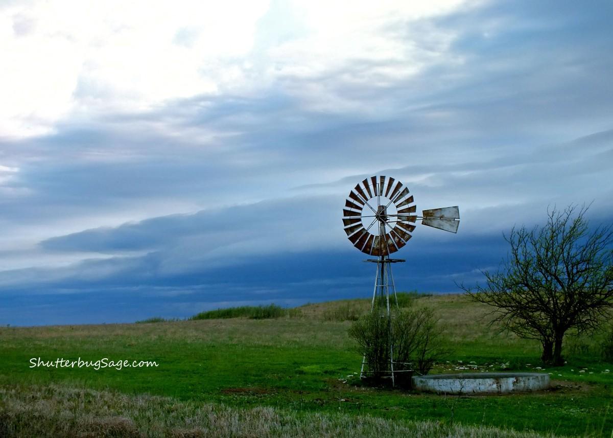 windmill on konza prairie shutterbugsage