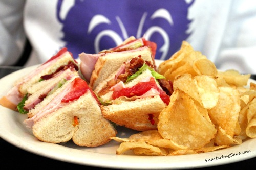 Club Sandwich at the Old Mill Tasty Shop