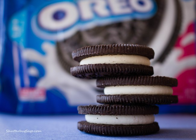 Oreo Cookies on National Oreo Cookie Day - Stack of Three Cookies