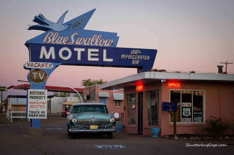The Blue Swallow Motel in Tucumcari, New Mexico