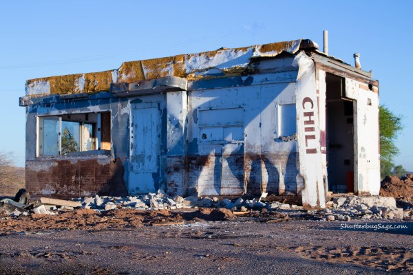 All that remains of the old Westerner Drive-Inn kitchen and drive-in
