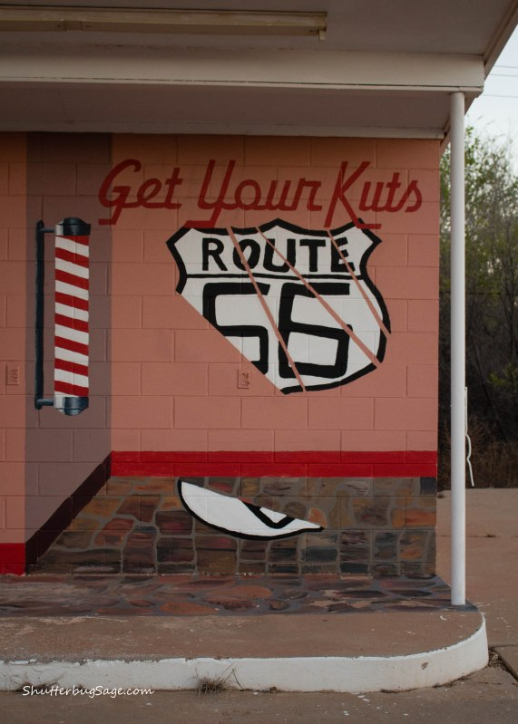 Get Your Kuts on Route 66 Mural in Tucumcari, New Mexico