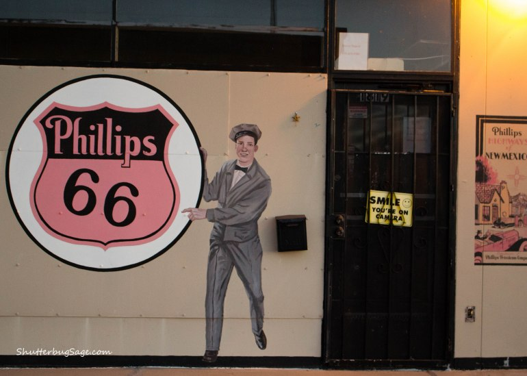 Phillips 66 Mural in Tucumcari, New Mexico