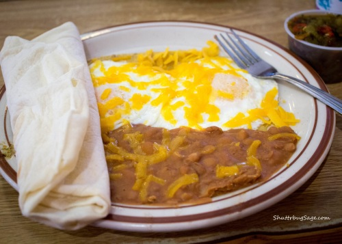 Huevos Rancheros at the Frontier Restaurant